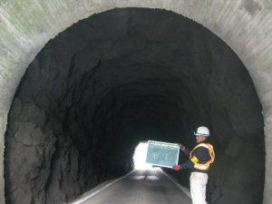 トンネル吹付工事 完成