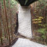 橋台の保護を目的とした施工