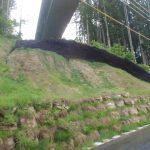 道路上部の崩壊面の復旧3