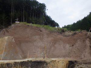 入ヶ洞 堰堤床掘法面 完了